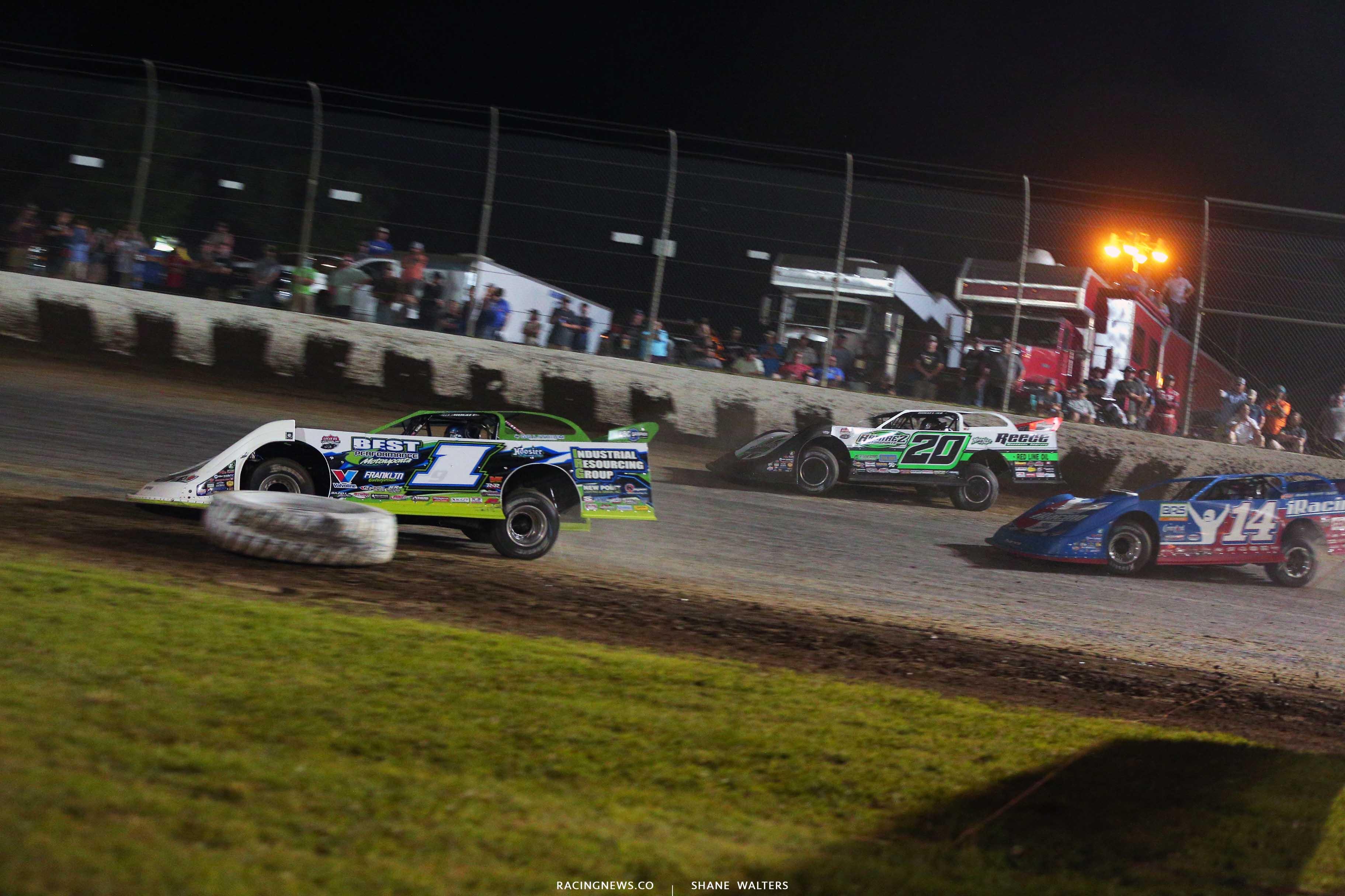 Tyler Erb, Jimmy Owens and Josh Richards - Magnolia Motor Speedway - Lucas Oil Late Model Dirt Series 6874