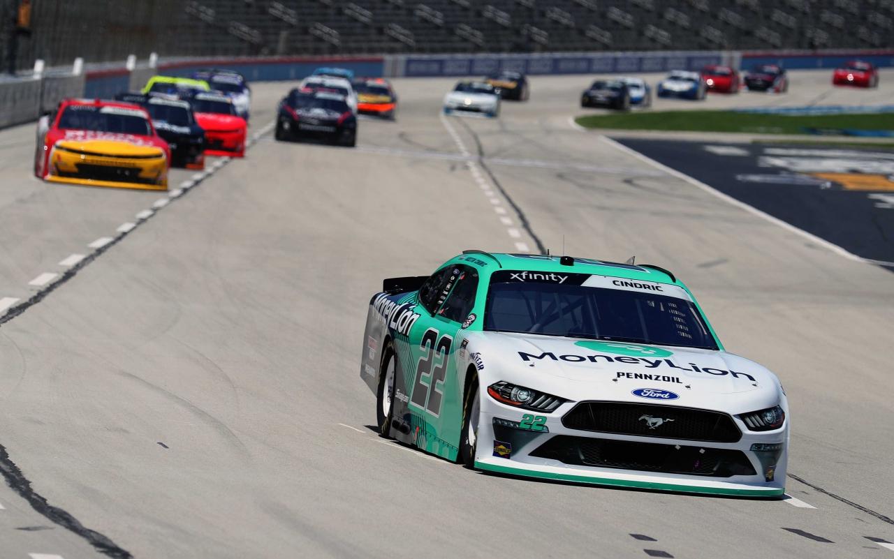 Austin Cindric at Texas Motor Speedway - NASCAR Xfinity Series