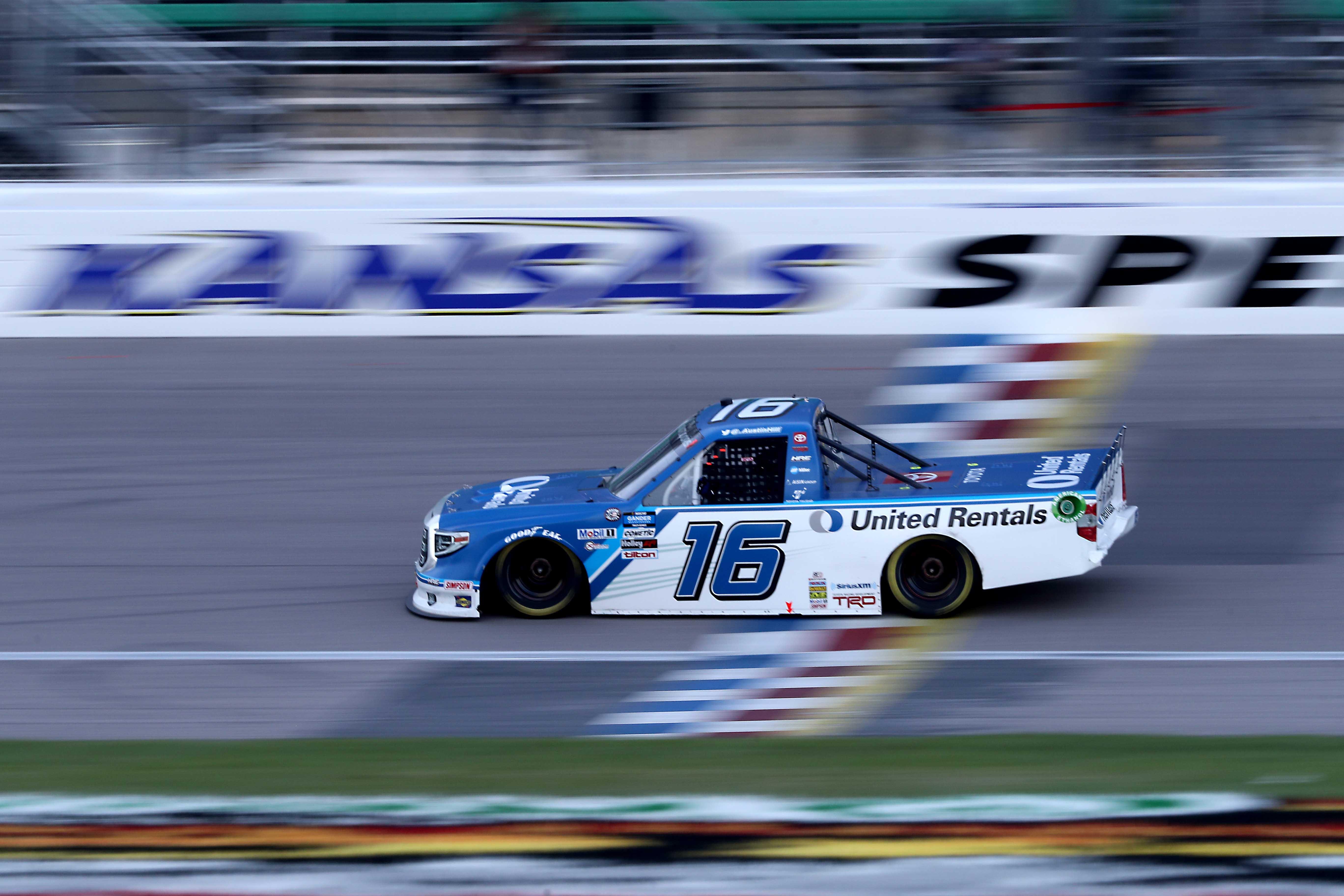 Austin Hill wins at Kansas Speedway - NASCAR Truck Series
