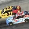 Bubba Wallace and Michael McDowell at Bristol Motor Speedway - NASCAR Cup Series