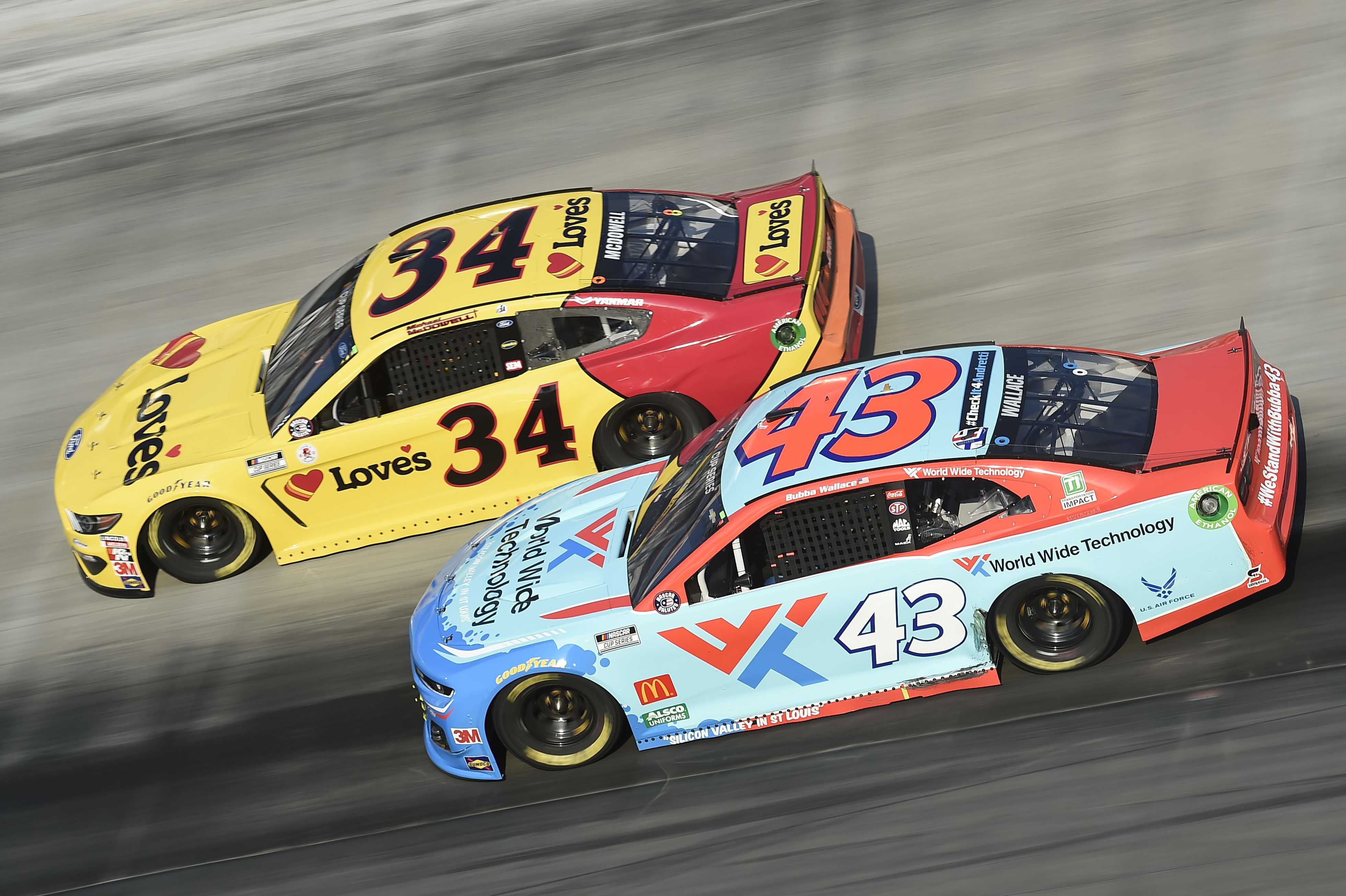 Bubba Wallace Wrecked By Michael Mcdowell At Bristol Motor Speedway Video Racing News