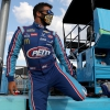 Bubba Wallace in a mask - NASCAR driver