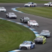 Chase Briscoe leads Austin Cindric and Noah Gragson - Indianapolis Road Course - NASCAR Xfinity Series