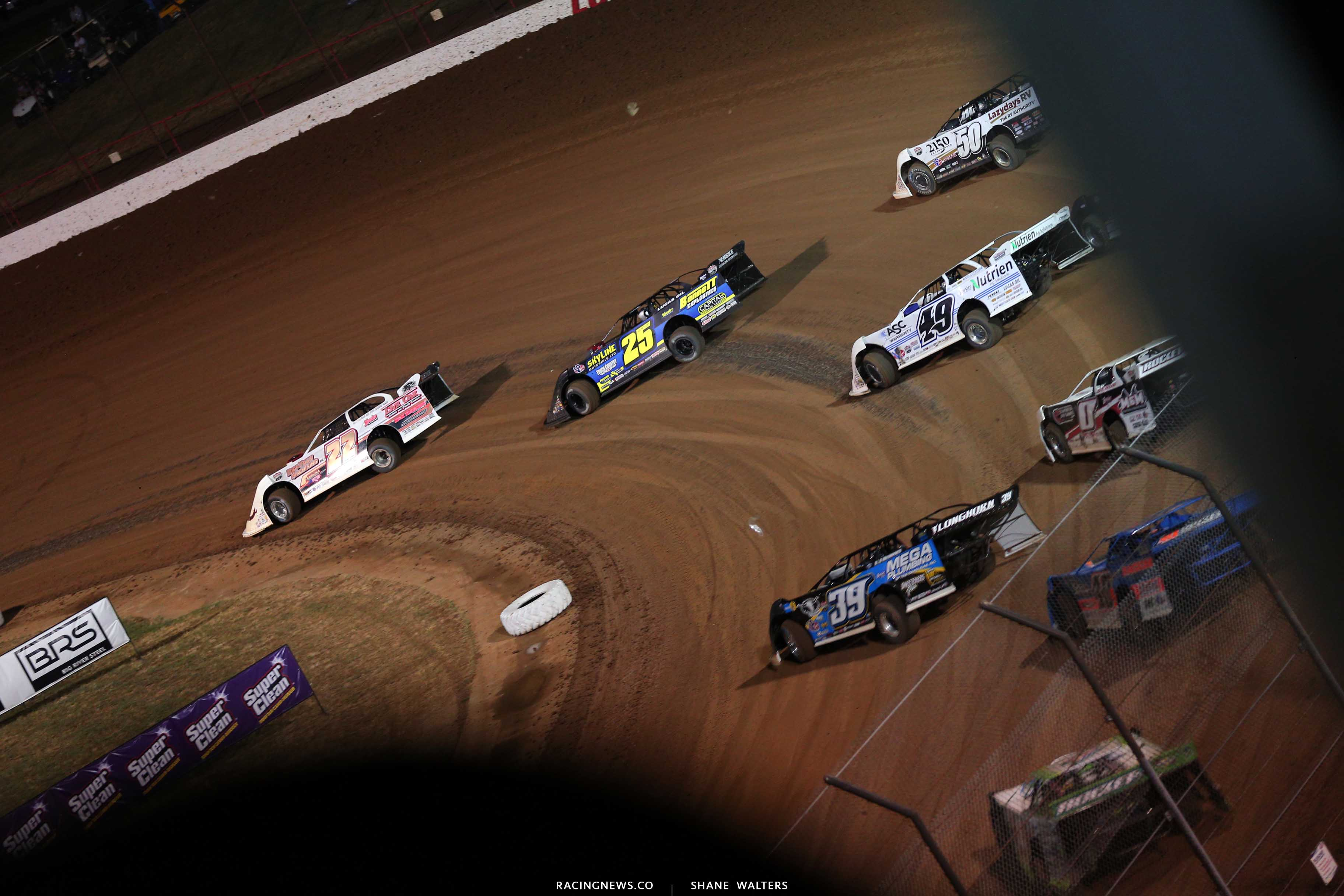 Chris Ferguson, Shane Clanton, Shanon Buckingham, Jonathan Davenport and Tim McCreadie at Lucas Oil Speedway - Lucas Dirt 9791