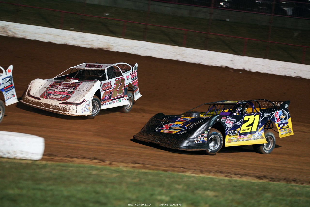 Chris Ferguson and Billy Moyer Sr at Lucas Oil Speedway - LOLMDS 9749