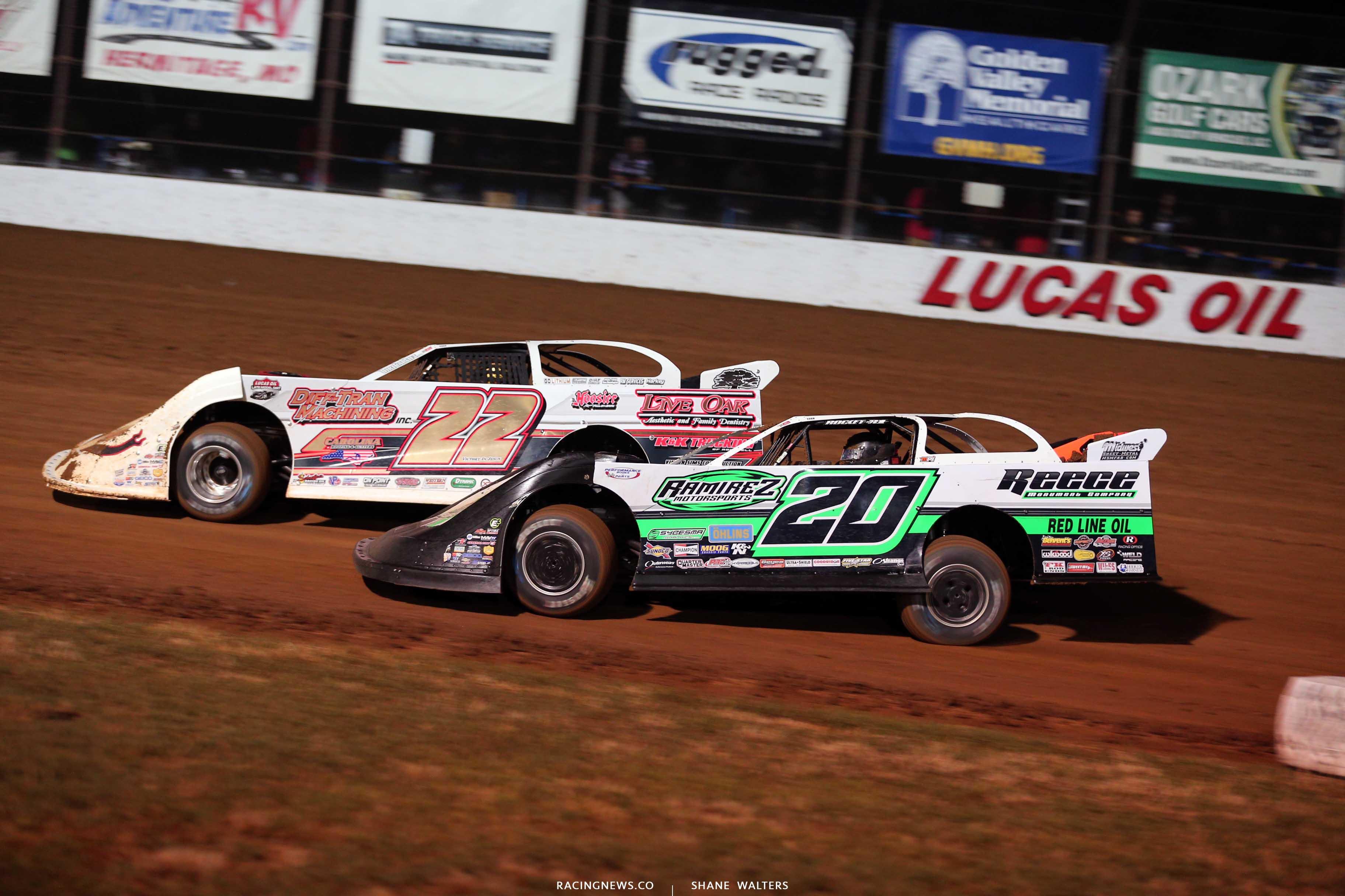 Chris Ferguson and Jimmy Owens at Lucas Oil Speedway - Lucas Series 9773