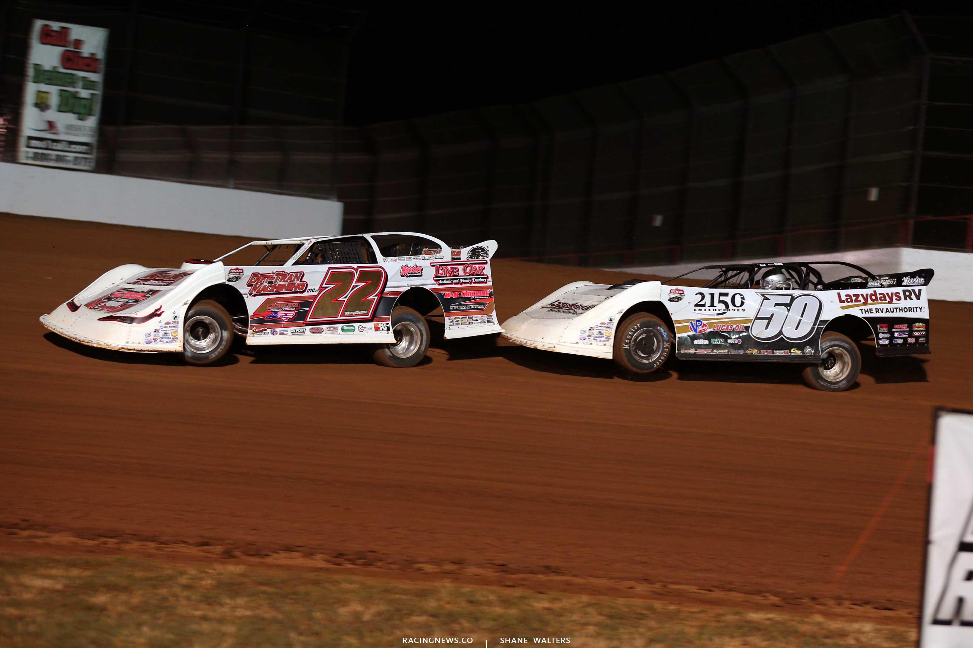 Chris Ferguson and Shanon Buckingham at Lucas Oil Speedway - Dirt Late Models 9734