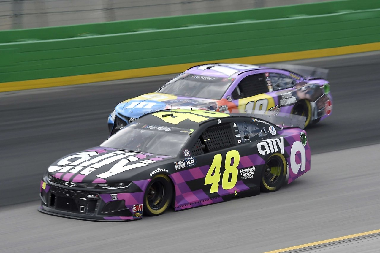 Jimmie Johnson and Kyle Busch at Kentucky Speedway - NASCAR Cup Series