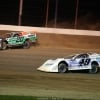 Jimmy Owens and Jonathan Davenport at Portsmouth Raceway Park - Lucas Late Models 8152