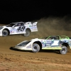 Jonathan Davenport and Tyler Erb at Muskingum County Speedway - Lucas Oil Late Model Dirt Series 7843