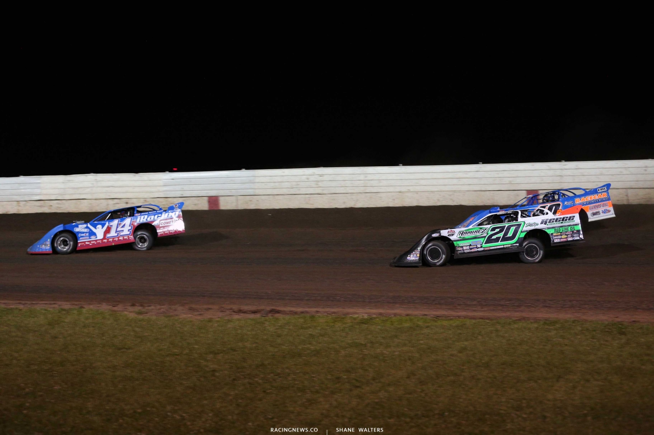 Josh Richards, Jimmy Owens and Kyle Bronson at Farley - Lucas Oil Late Models 8708