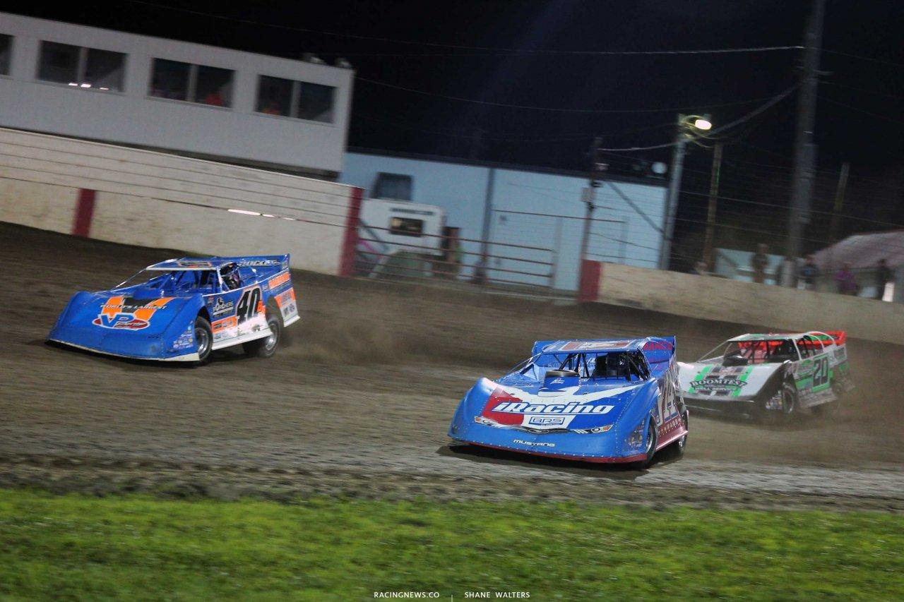 Josh Richards, Kyle Bronson, Jimmy Owens - Lucas Oil Late Model Dirt Series at 300 Raceway in Farley Iowa8529