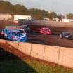 Josh Richards leads Jimmy Owens - Lucas Oil Late Model Dirt Series at 300 Raceway in Farley Iowa8529