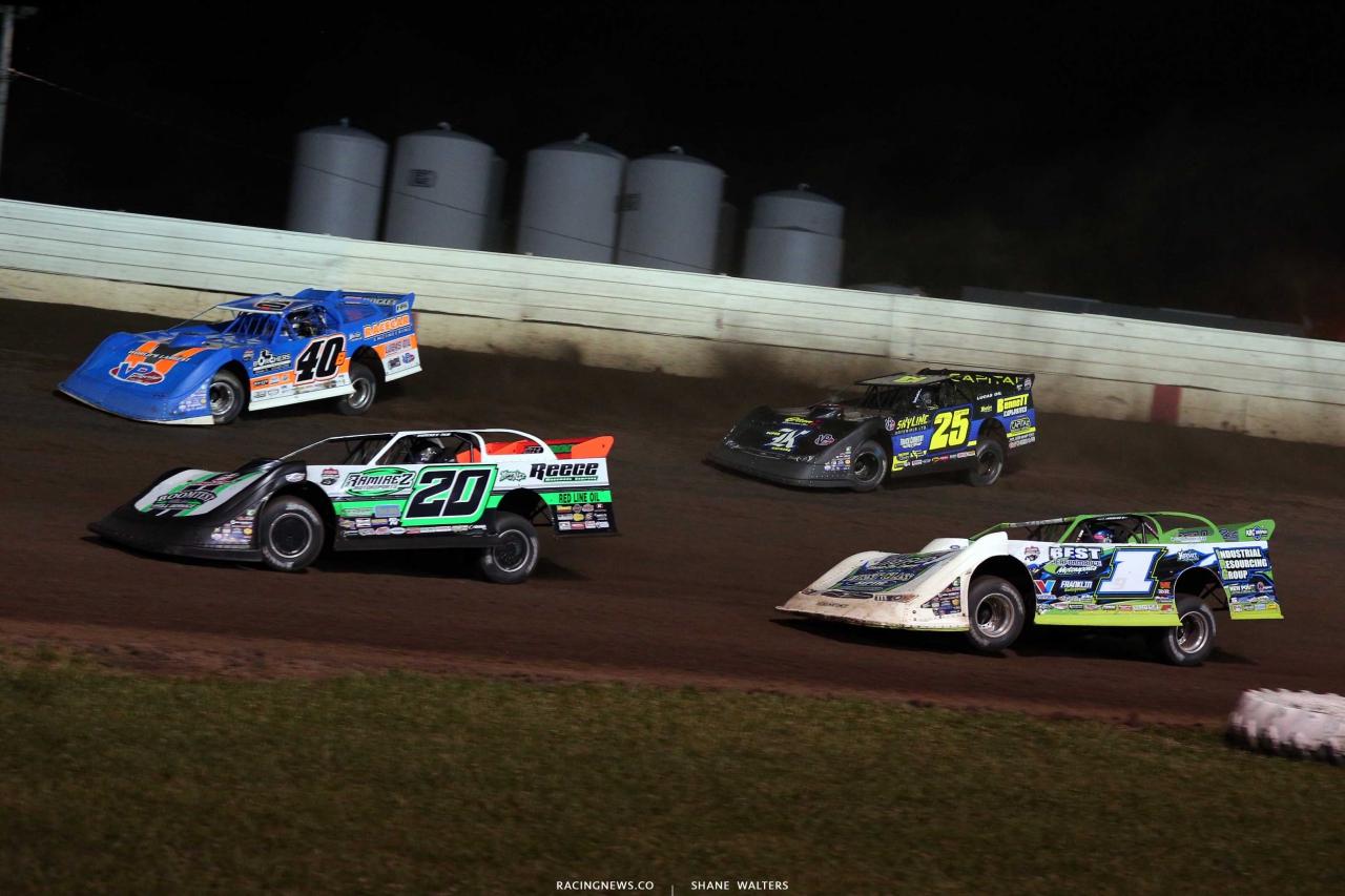 Kyle Bronson, Jimmy Owens, Tyler Erb, Shane Clanton - Lucas Oil Late Model Dirt Series at 300 Raceway in Farley Iowa8529
