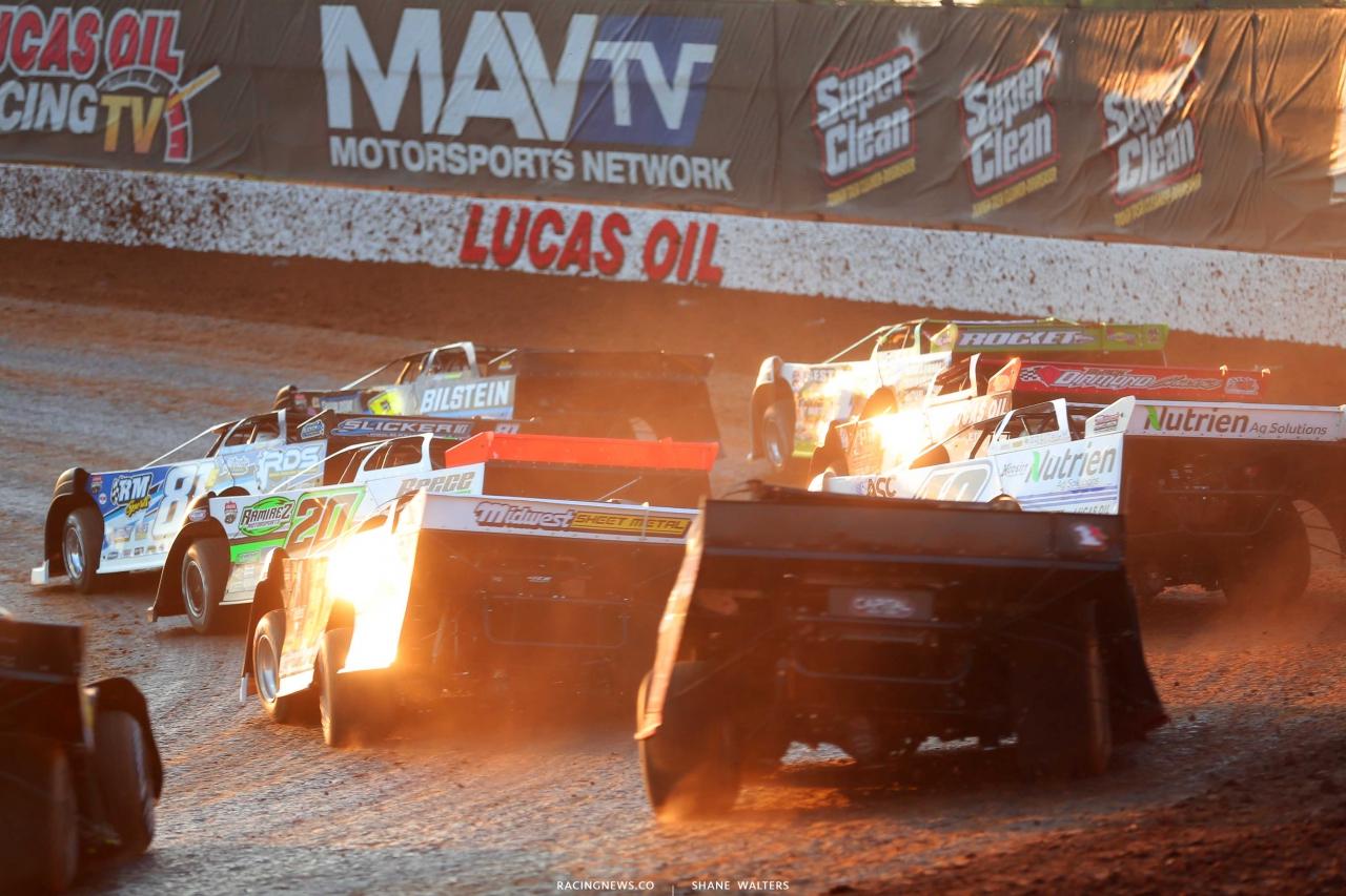 Kyle Strickler, Tyler Erb, Tanner English, Jimmy Owens, Earl Pearson Jr, Mike Marlar and Jonathan Davenport - Show Me 100 at Lucas Oil Speedway - Lucas Dirt Series 9104