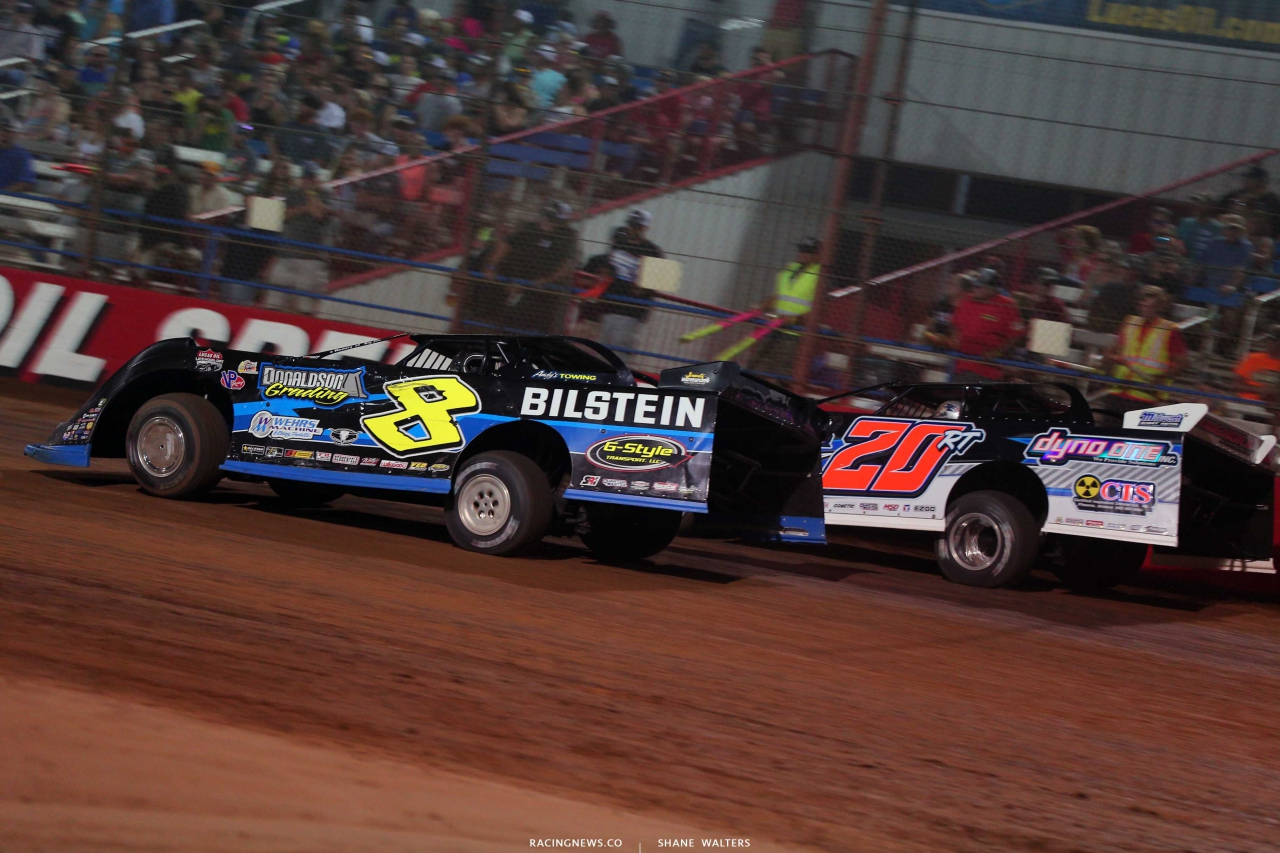Kyle Strickler and Ricky Thornton Jr - Show Me 100 at Lucas Oil Speedway - LOLMDS 9389