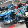No 43 - Bubba Wallace in the Richard Petty Motorsports shop