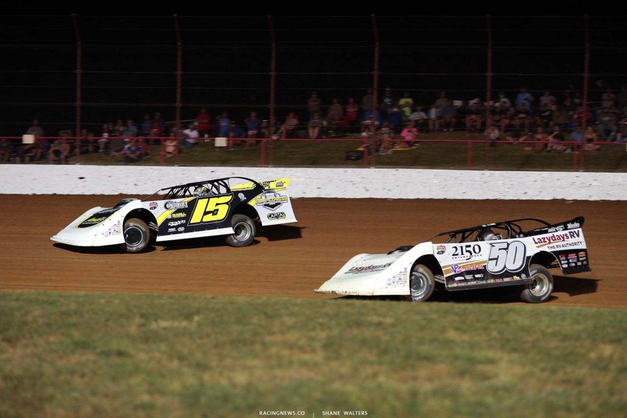 Payton Looney and Shanon Buckingham - Show Me 100 at Lucas Oil Speedway - LOLMDS 9109