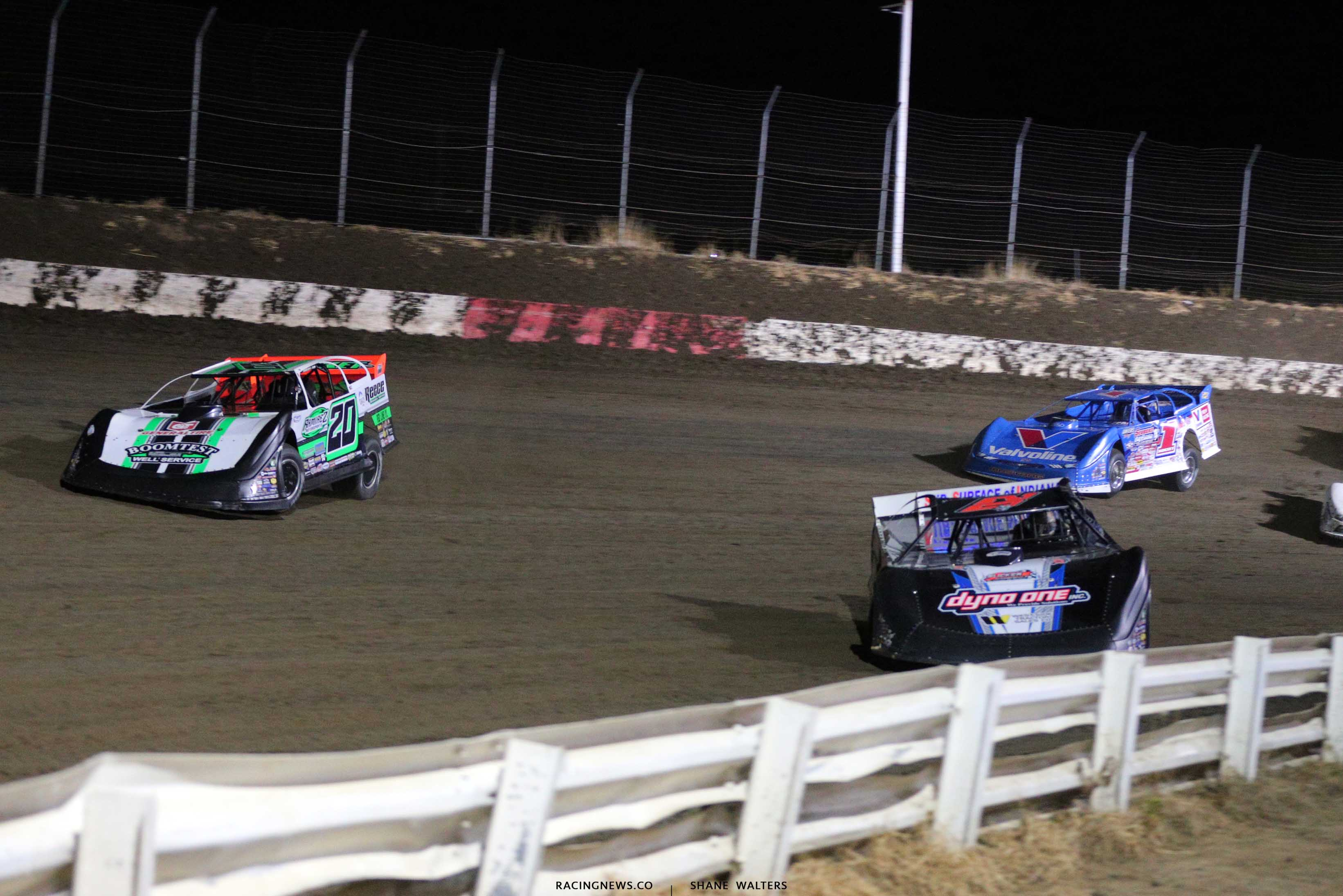 Ricky Thornton Jr and Jimmy Owens in the Silver Dollar Nationals at I-80 Speedway - Lucas Oil Late Model Dirt Series 0308