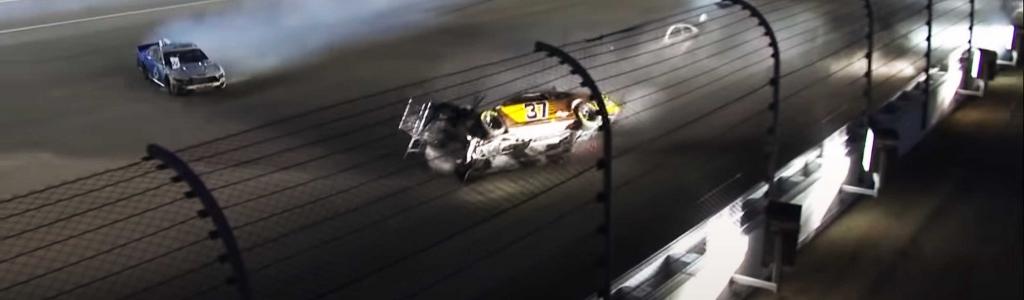 Ryan Preece in wild NASCAR crash at Kansas Speedway (Video)