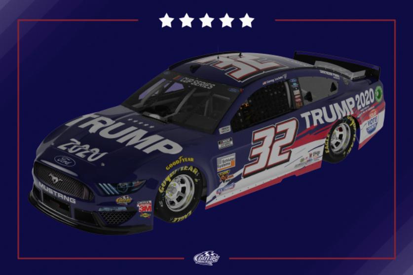 Trump 2020 NASCAR race car - Corey LaJoie