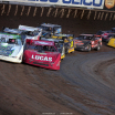 Tyler Erb and Earl Pearson Jr at Tri-City Speedway - Lucas Oil Late Model Dirt Series 8861