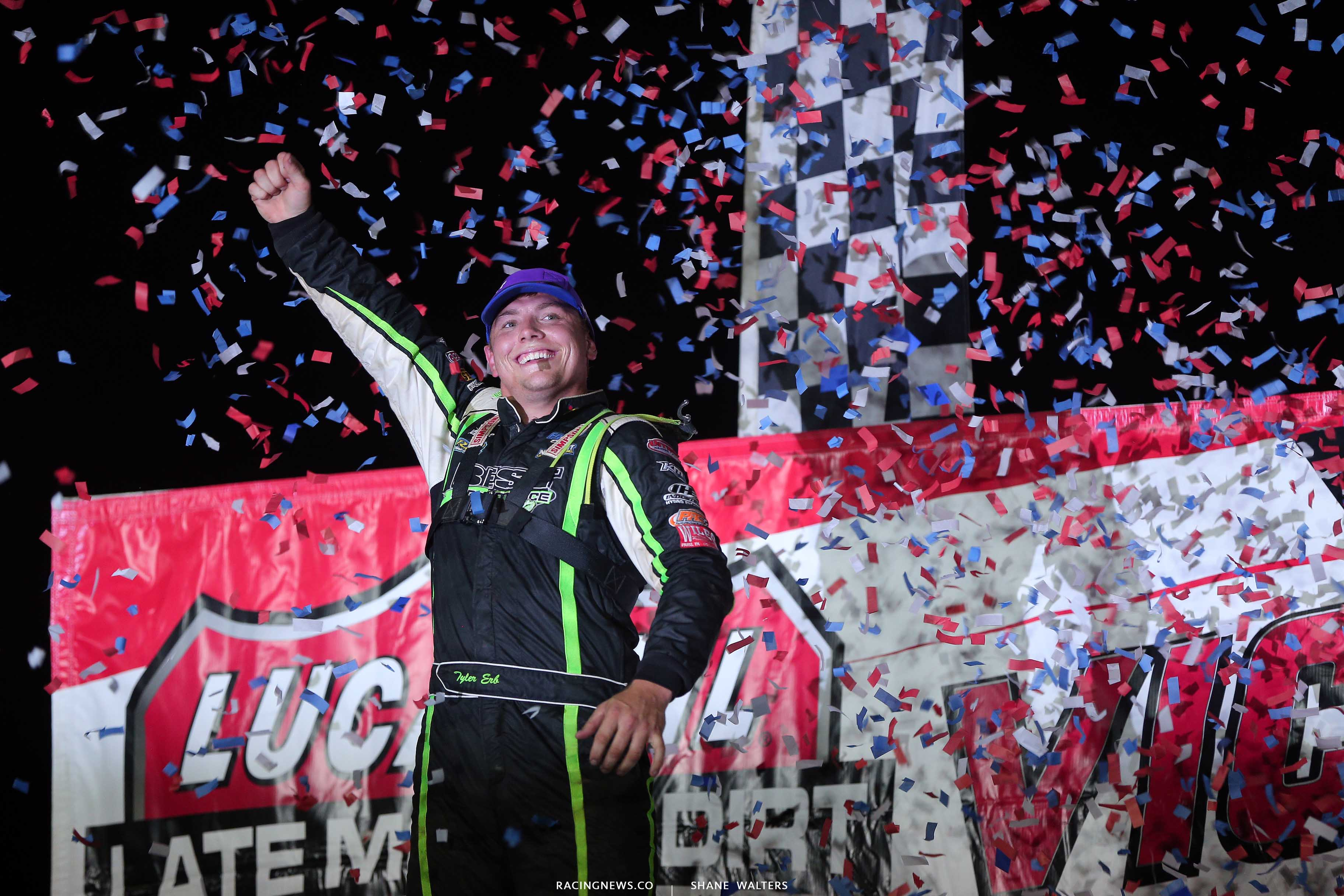 Tyler Erb wins at Tri-City Speedway - Lucas Oil Late Model Series 9076