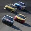 Alex Bowman, Joey Logano, Erik Jones and Kyle Busch at Michigan International Speedway - NASCAR Cup Series