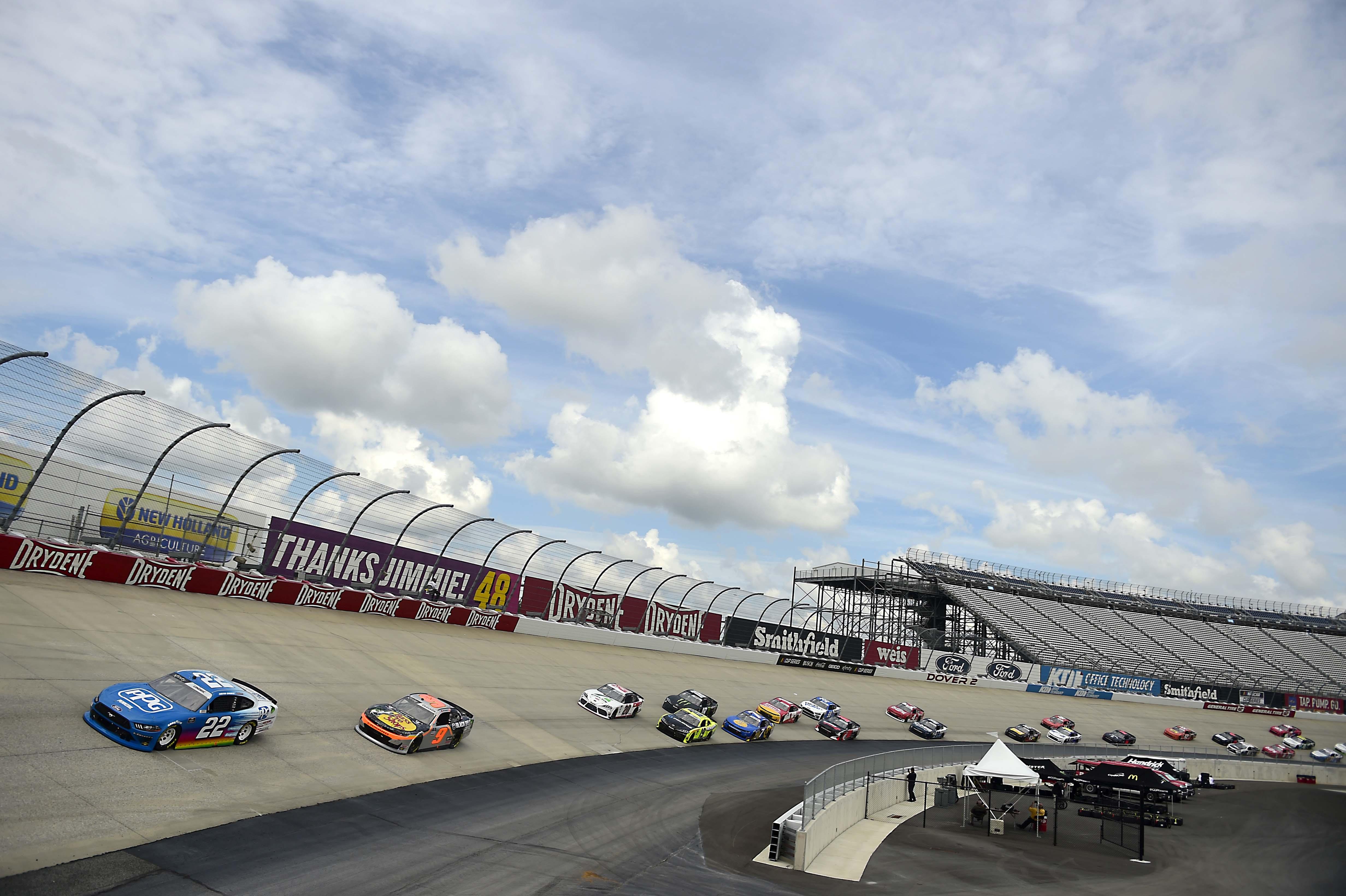 Austin Cindric and Noah Gragson - Dover International Speedway - NASCAR Xfinity Series