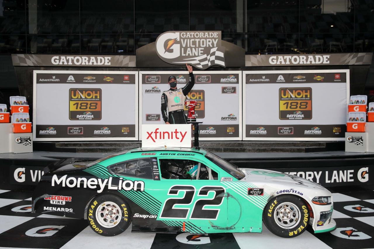 Austin Cindric wins on the Daytona Road Course - NASCAR Xfinity Series