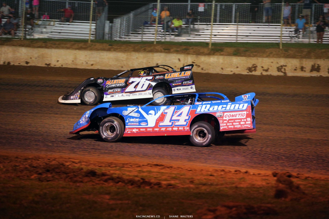 Brandon Overton and Josh Richards at Florence Speedway - Lucas Late Model 1283