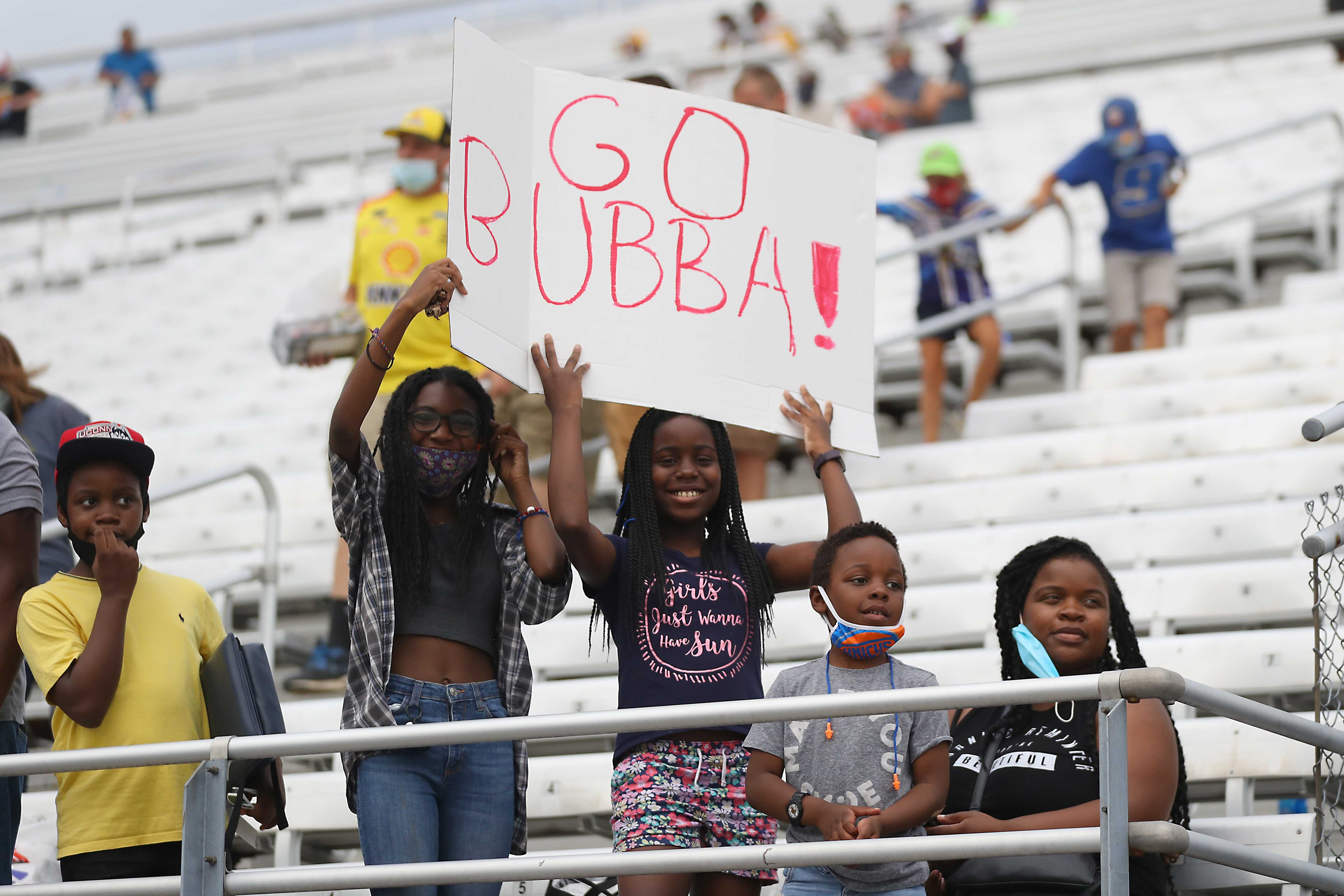 Bubba Wallace NASCAR fans at New Hampshire Motor Speedway - NASCAR Cup Series
