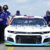 Bubba Wallace and Richard Petty Motorsports on the grid at Michigan International Speedway - NASCAR Cup Series
