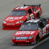Carl Edwards and Dale Earnhardt Jr at Dover International Speedway in 2007 - NASCAR Cup Series