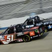 Chandler Smith and Parker Kligerman at Dover International Speedway - NASCAR Truck Series