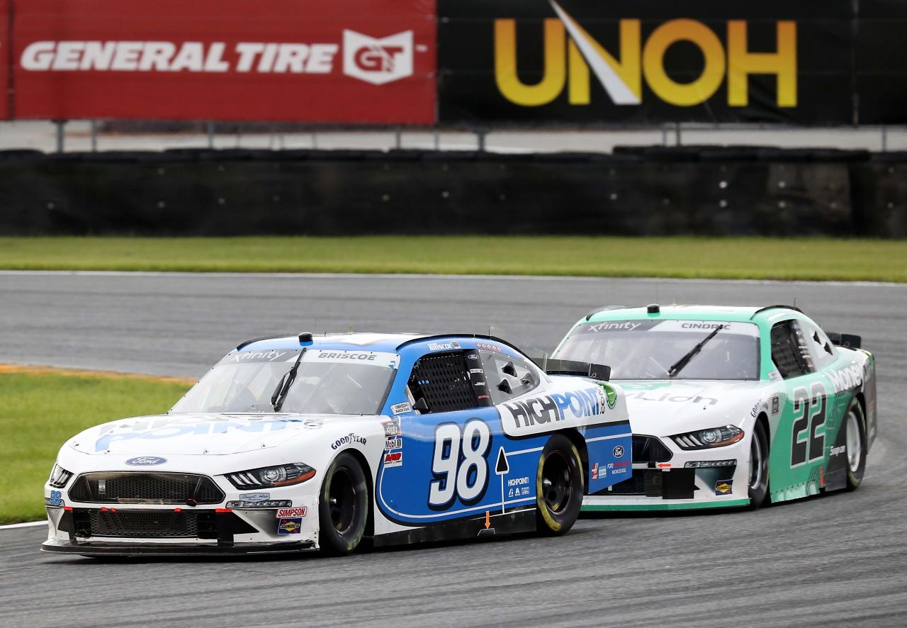 Chase Briscoe and Austin Cindric on the Daytona Road Course - NASCAR Xfinity Series