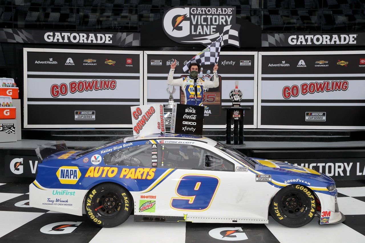 Chase Elliott in victory lane at the Daytona Road Course - NASCAR Cup Series 2