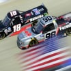 Christian Eckes and Grant Enfinger at Dover International Speedway - NASCAR Truck Series - American Flag