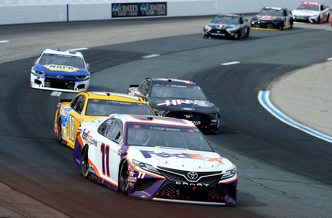 Denny Hamlin at New Hampshire Motor Speedway - NASCAR Cup Series