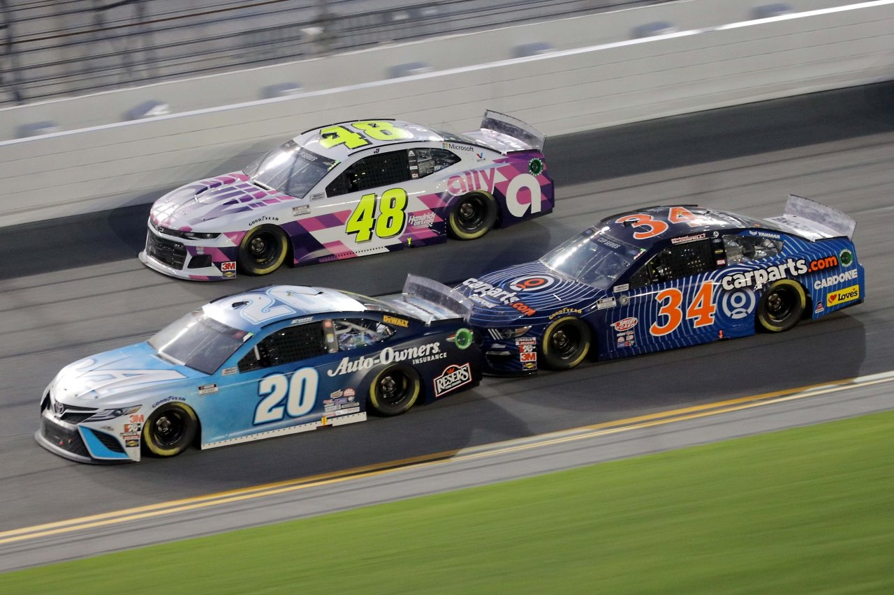 Erik Jones, Jimmie Johnson and Michael McDowell at Daytona International Speedway - NASCAR Cup Series