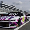 Jimmie Johnson - White Ally car at Dover International Speedway - NASCAR Cup Series