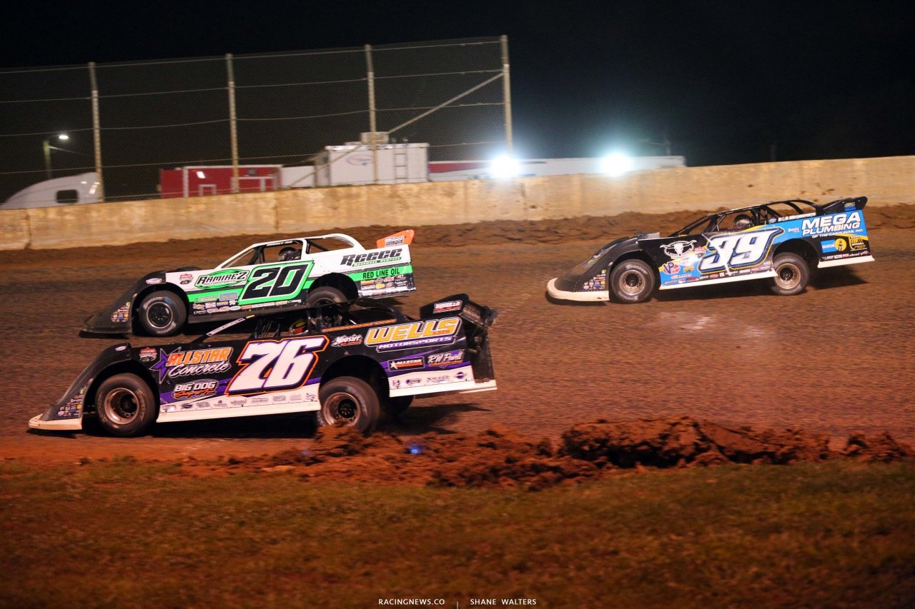 Jimmy Owens, Brandon Overton and Tim McCreadie at Florence Speedway - North South 100 - Dirt Race 1585