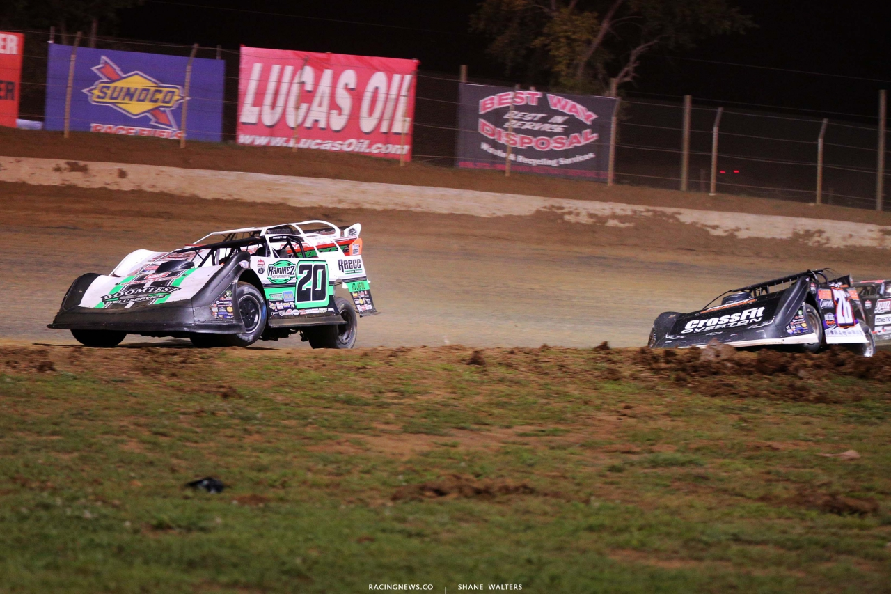 Jimmy Owens, Chris Ferguson and Brandon Overton at Florence Speedway - Dirt Track Racing 1434