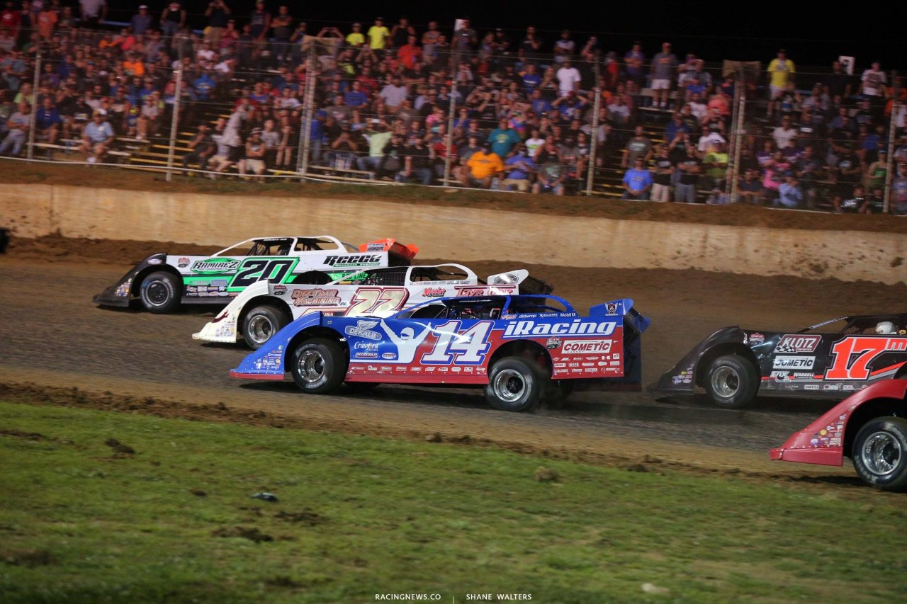 Jimmy Owens, Chris Ferguson and Josh Richards at Florence Speedway - Dirt Late Model Racing 1403