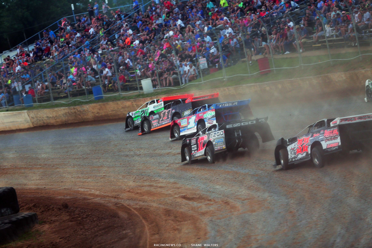 Jimmy Owens, Josh Rice and Dale McDowell at Florence Speedway - Dirt Late Model Racing 1084
