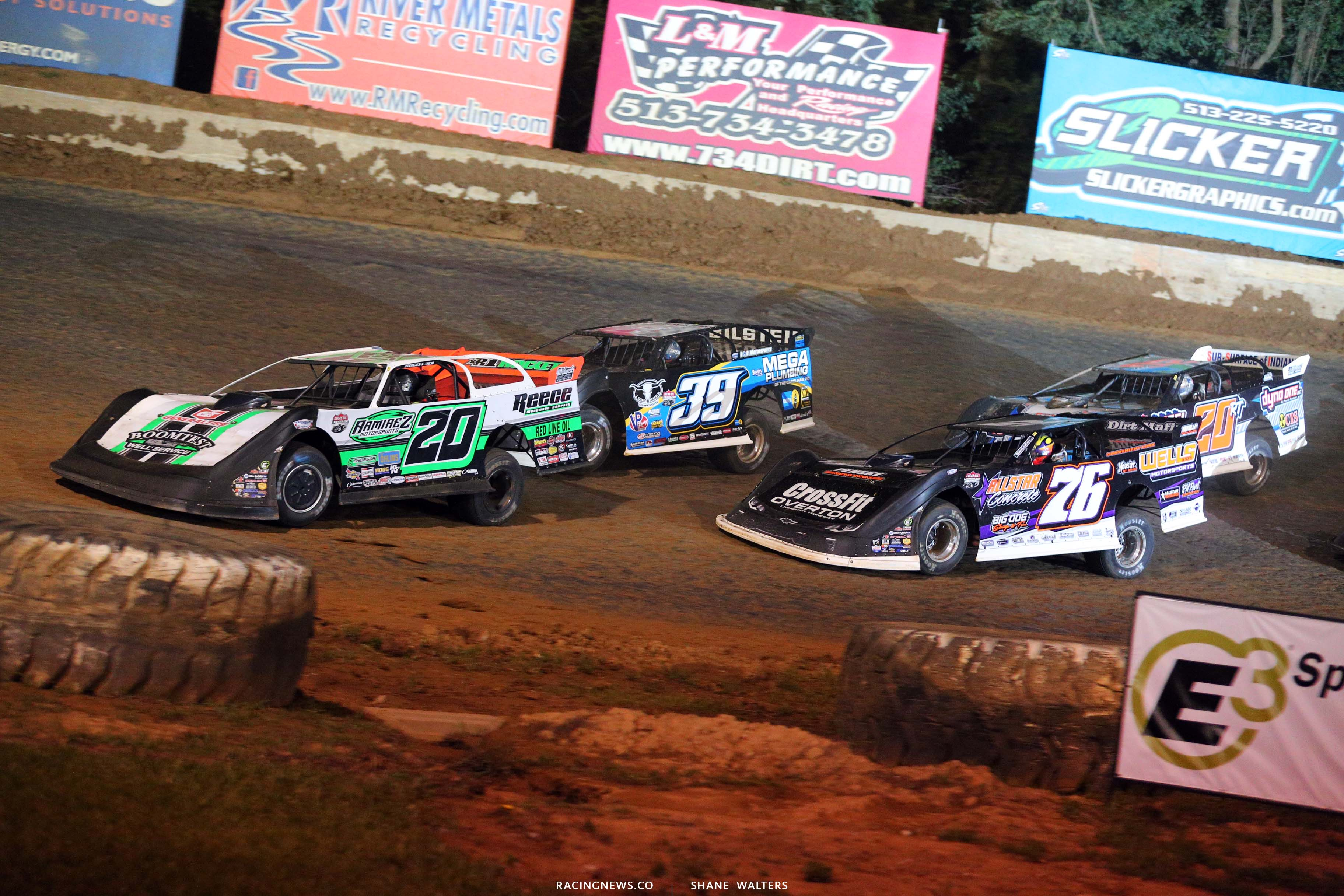 Jimmy Owens, Tim McCreadie, Brandon Overton and Ricky Thornton Jr - North South 100 at Florence Speedway - Lucas Late Models 1581