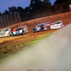 Jimmy Owens, Tyler Erb and Jonathan Davenport at Florence Speedway - Lucas Oil Late Models 0691