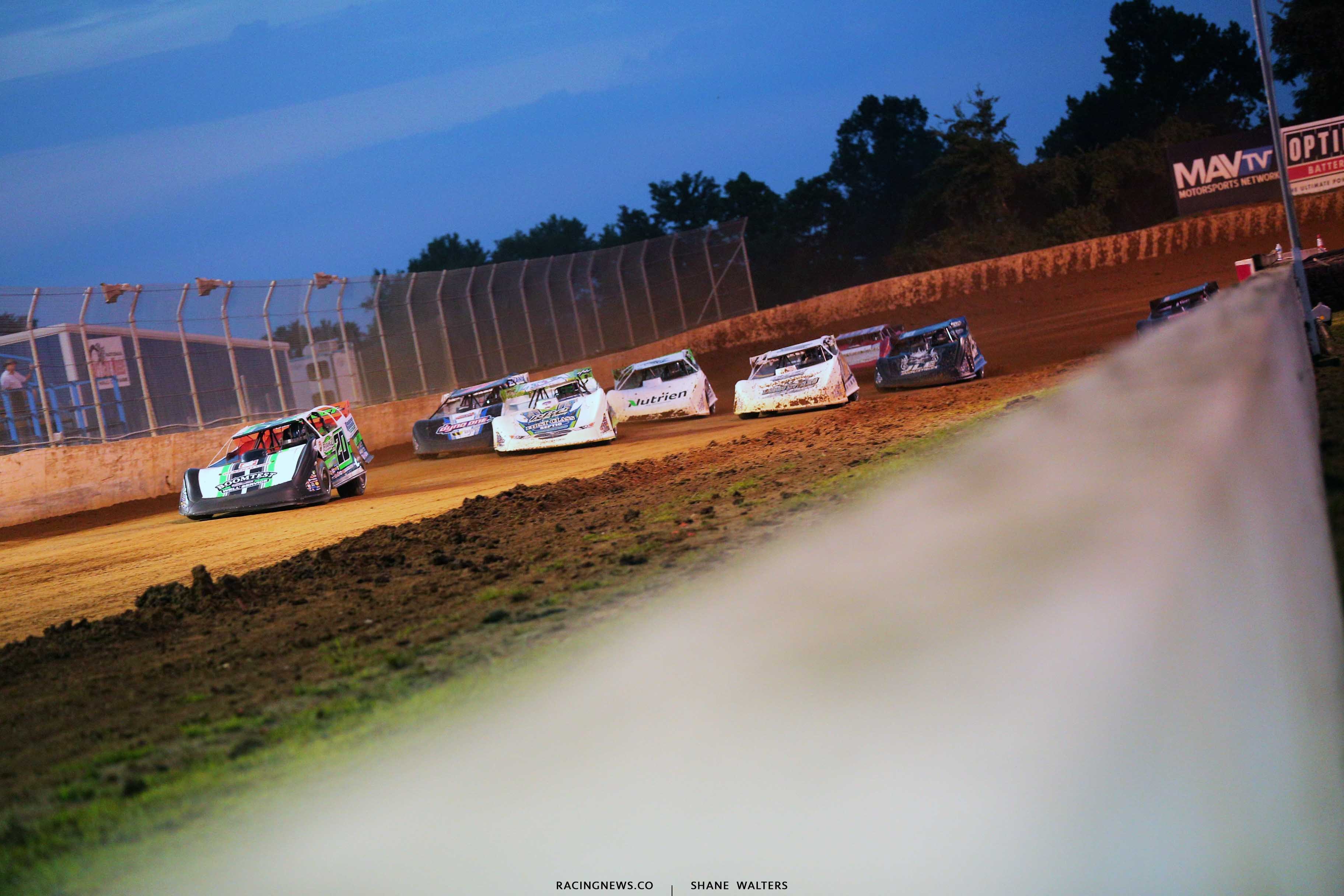 Jimmy Owens, Tyler Erb and Jonathan Davenport at Florence Speedway - Lucas Oil Late Models 0709