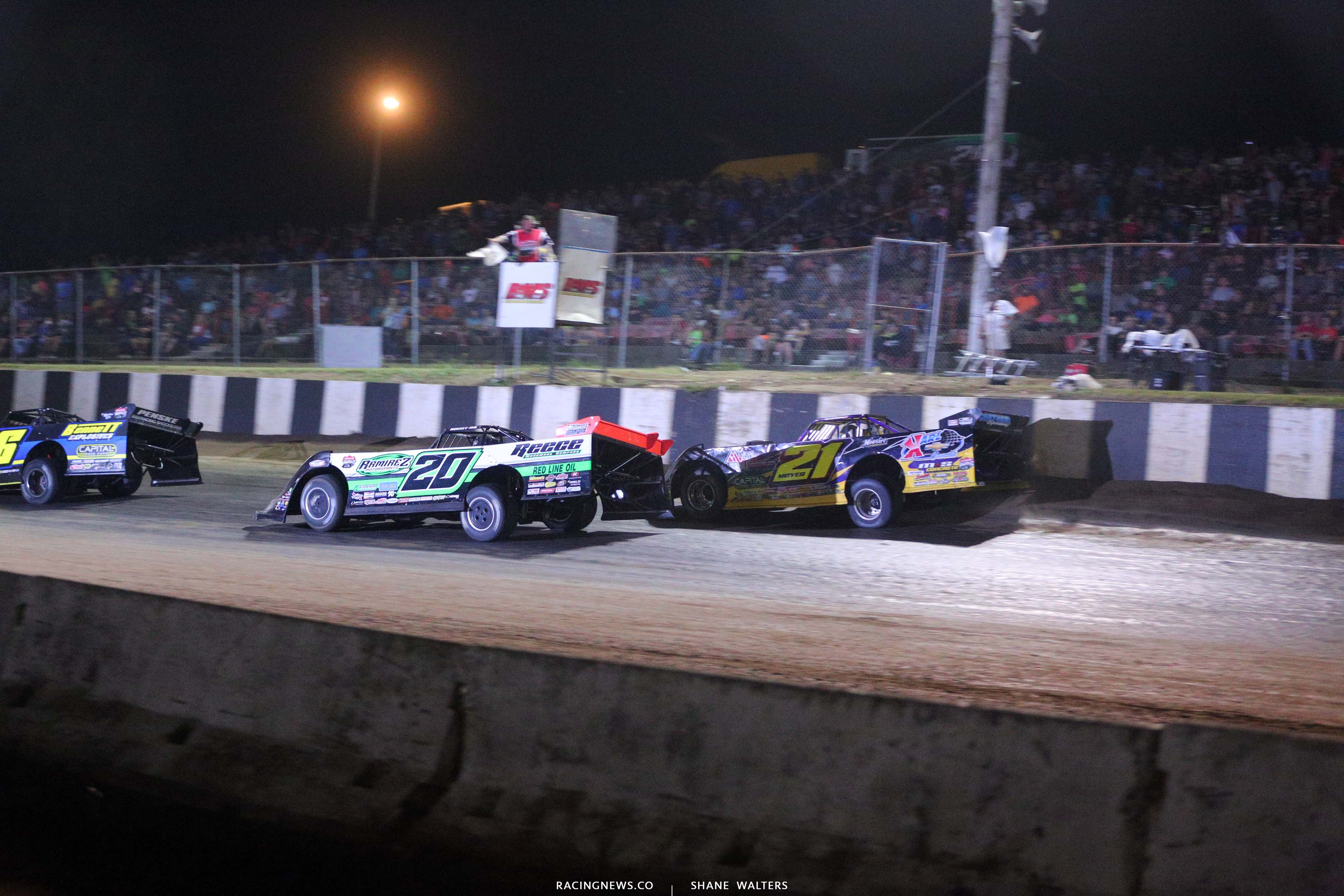 Jimmy Owens and Billy Moyer Sr at Batesville Motor Speedway - Topless 100 - Lucas Oil Late Model Dirt Series - large 2245