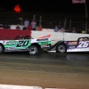Jimmy Owens and Brandon Overton at Batesville Motor Speedway - Topless 100 - Lucas Oil Late Model Dirt Series 2008
